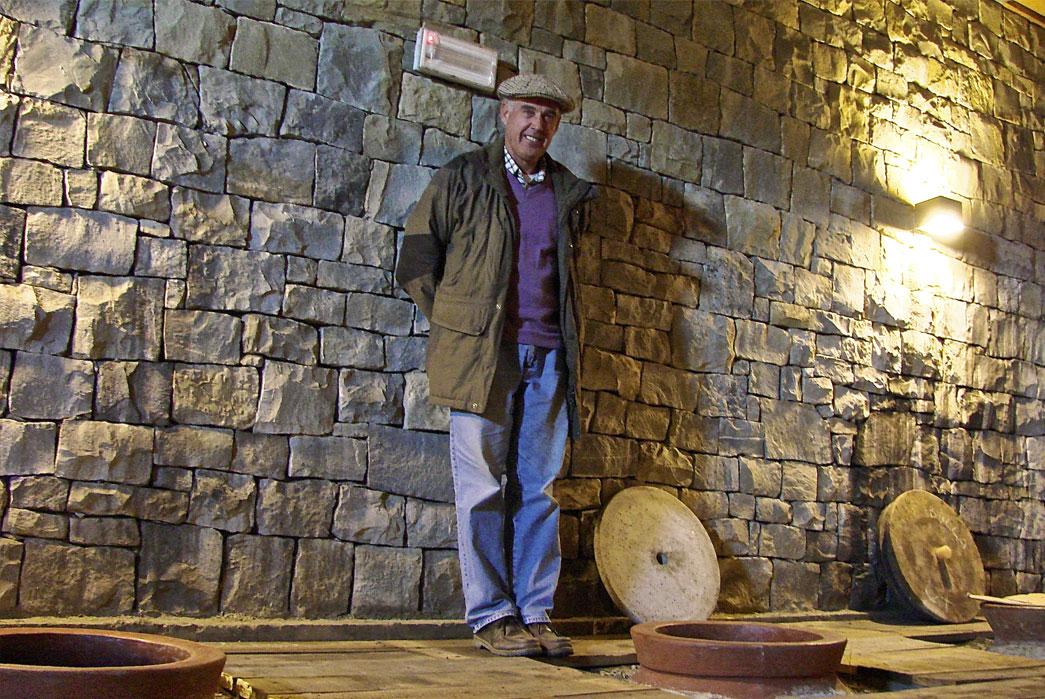 Josko Gravner in his underground amphora