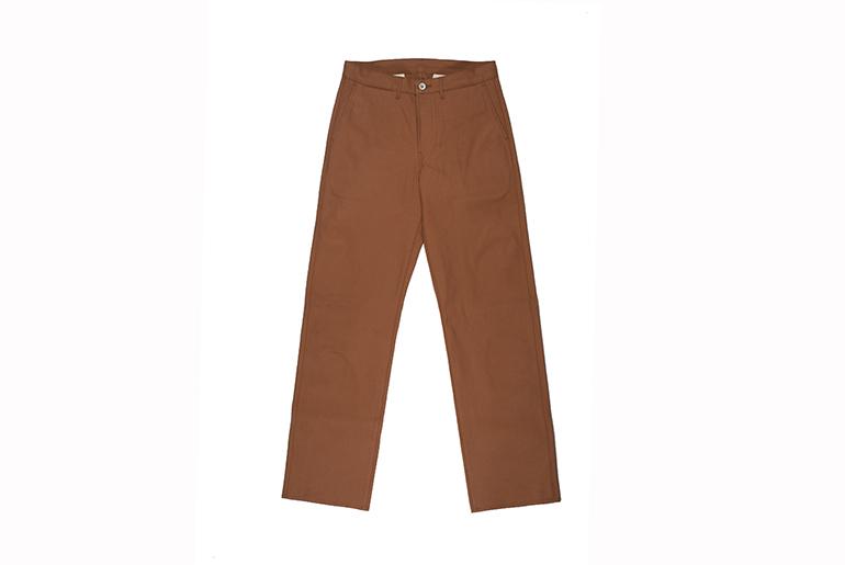 Roy Cotton Duck Selvedge Foreman Pants Flat
