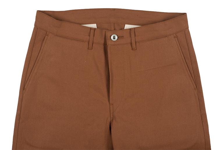 Roy Cotton Duck Selvedge Foreman Pants Front Closeup