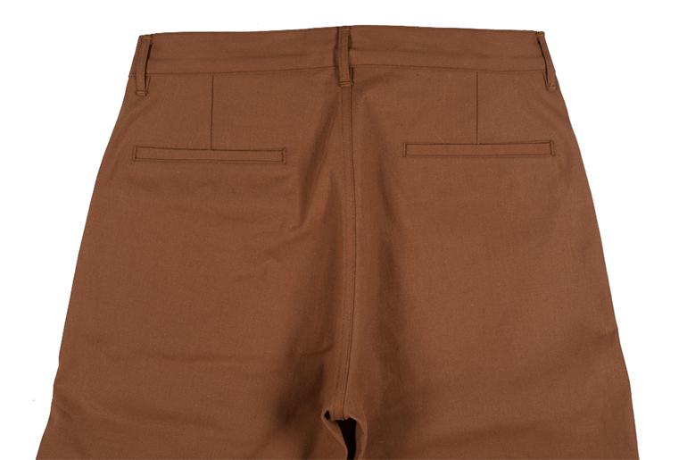 Roy Cotton Duck Selvedge Foreman Pants Back Closeup