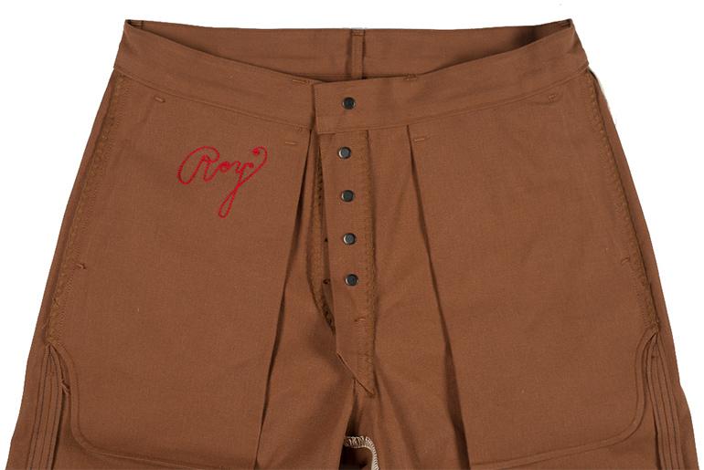 Roy Cotton Duck Selvedge Foreman Pants Interior Front Closeup