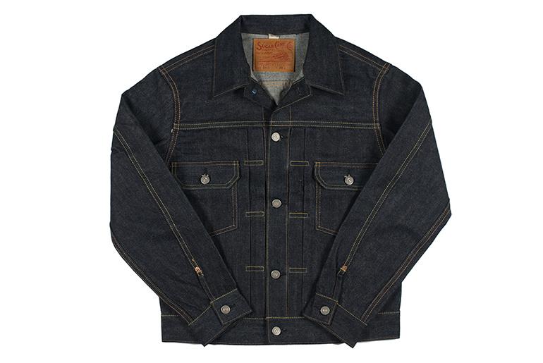 Sugar Cane 1953 Type II Unsanforized Raw Denim Jacket Fit Front