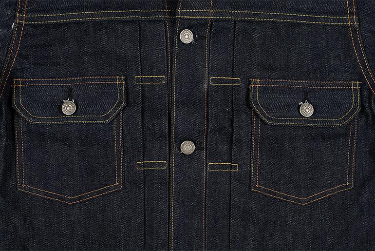 Sugar Cane 1953 Type II Unsanforized Raw Denim Jacket Fit Front Pockets