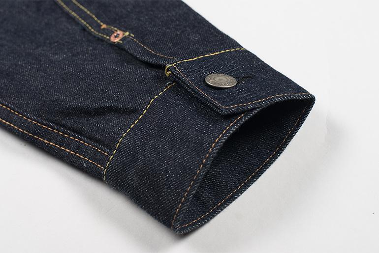 Sugar Cane 1953 Type II Unsanforized Raw Denim Jacket Sleeve