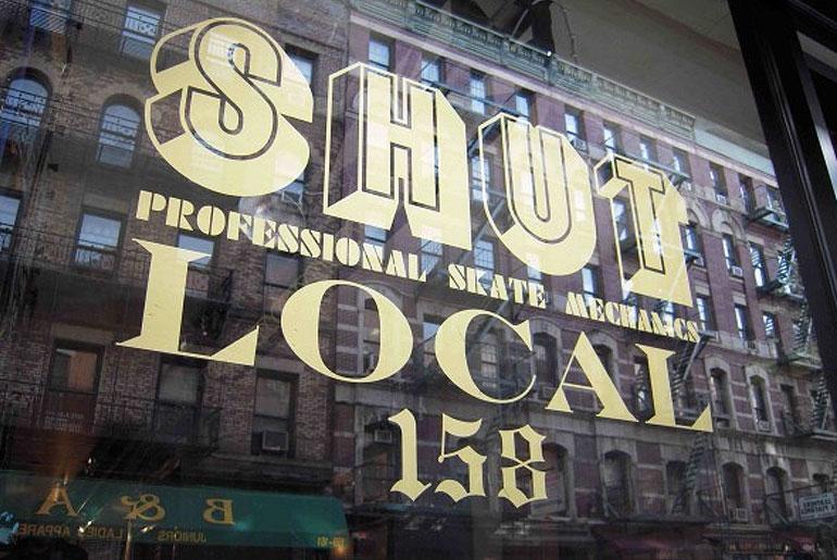 Shut Skates' storefront - 158 Orchard Street, NYC