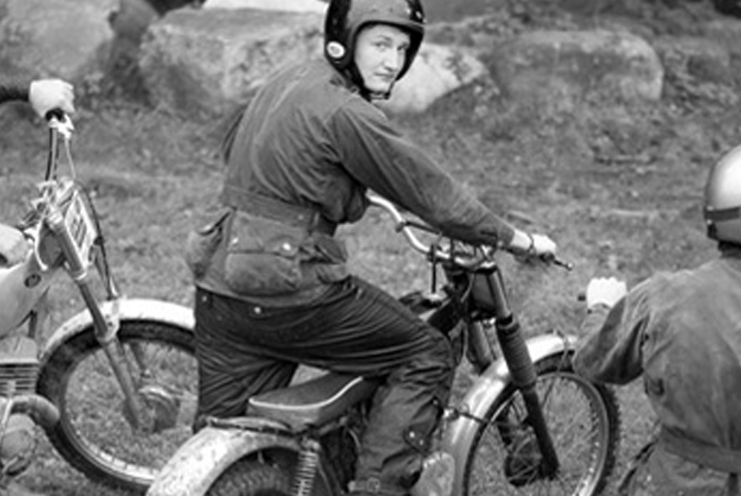 One of the original racing jackets from the Six Days Trial. Image via Barbour.