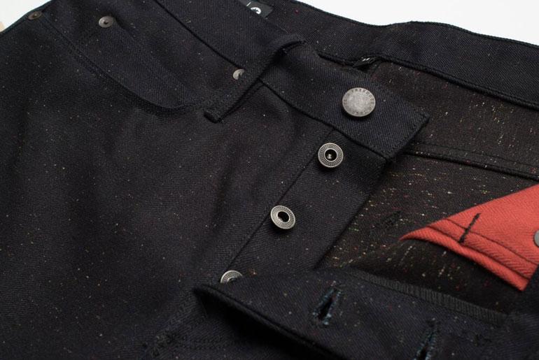 Freenote Cloth x Mildblend Supply 14.5oz. Neppy Fleck Rios Denim Button Fly