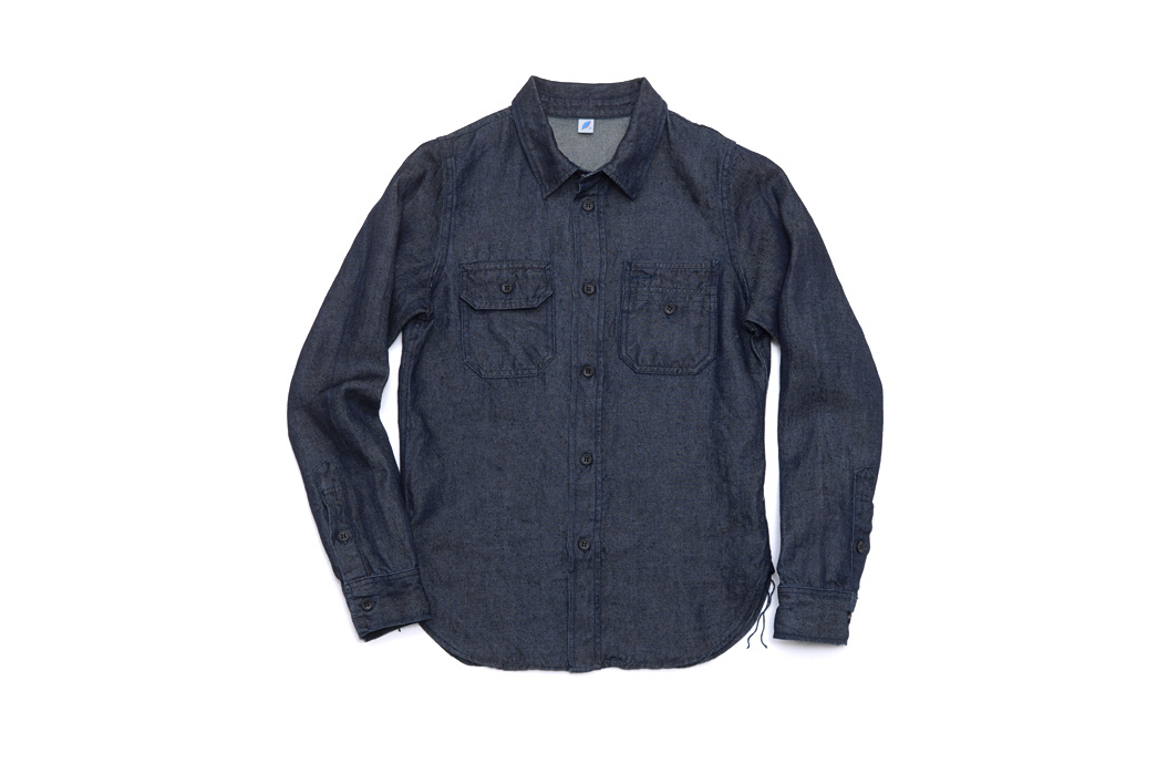 Fade of the Day – Pure Blue Japan Linen Denim Work Shirt (3 months, 0 washes)