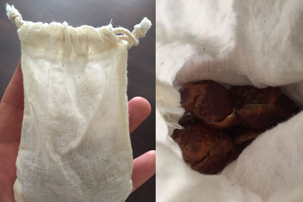 Soap nuts pouch