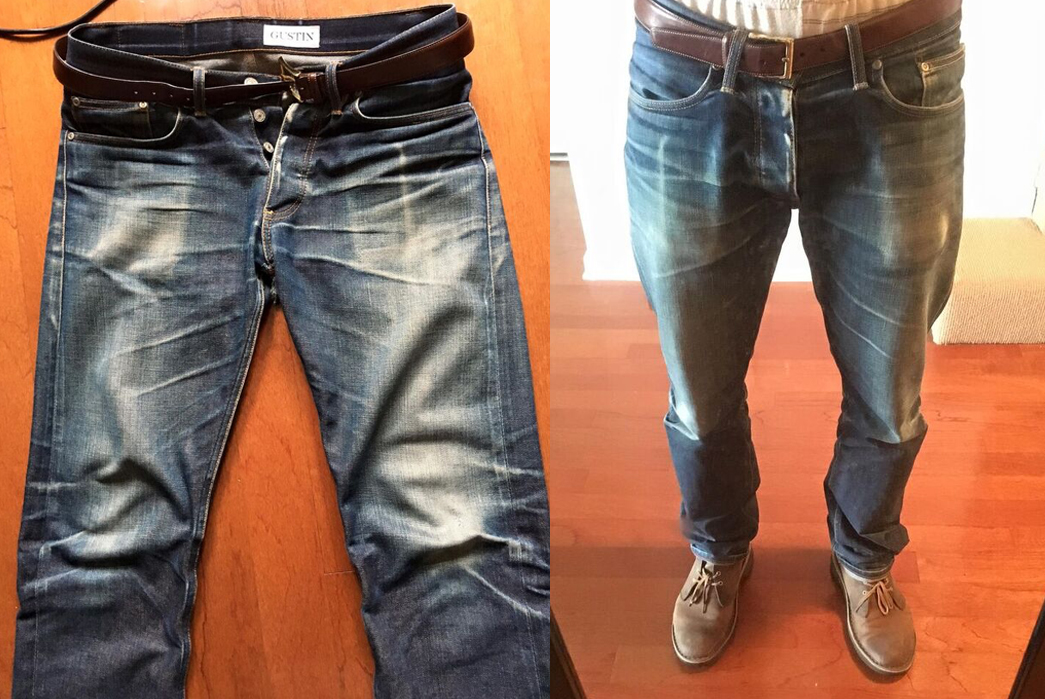 Fade of the Day – Gustin #143 Bright Weft (1 Year, 3 Months, 1 Wash, 2 Soaks)