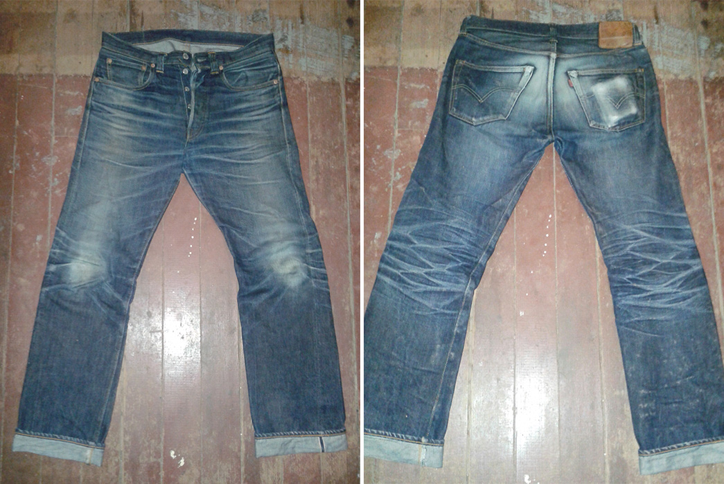 Fade of the Day – Levi's Vintage Clothing 1947 501 Rigid (1 Year, 2 Months, 1 Wash)