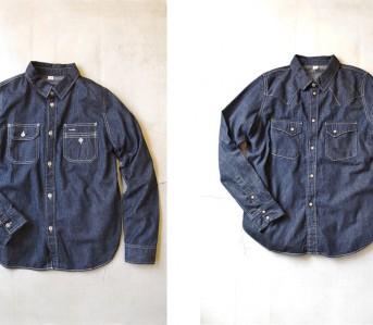 Pure blue Japan denim shirt