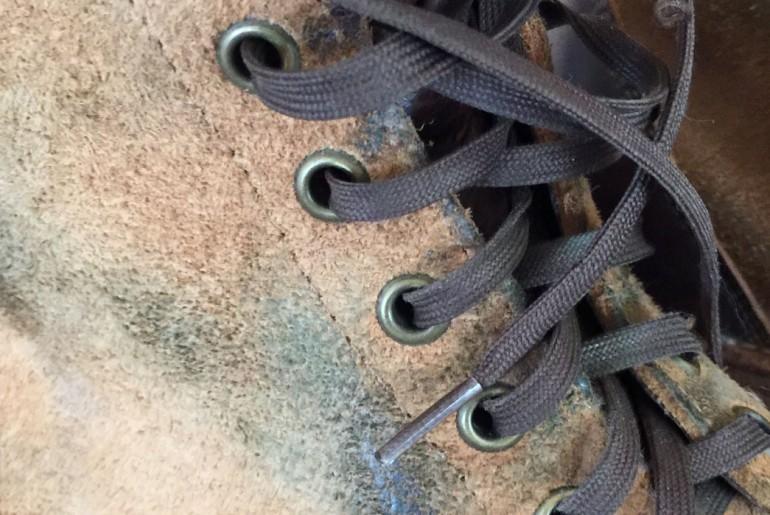 Rising Sun Cadet Boots Laces Closeup