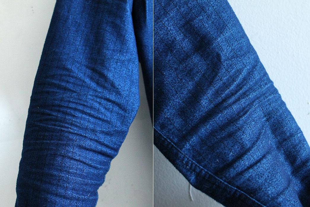 Corridor-Indigo-Railroad-Stripe-Shirt-Worn-Elbows