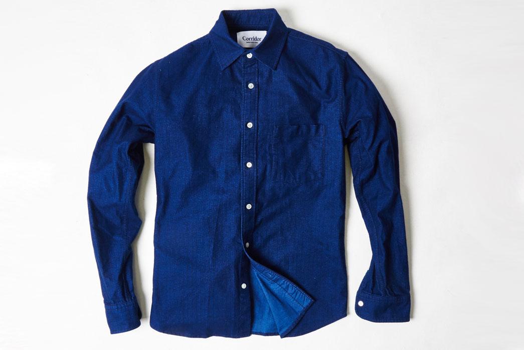Corridor-Indigo-Railroad-Stripe-Shirt