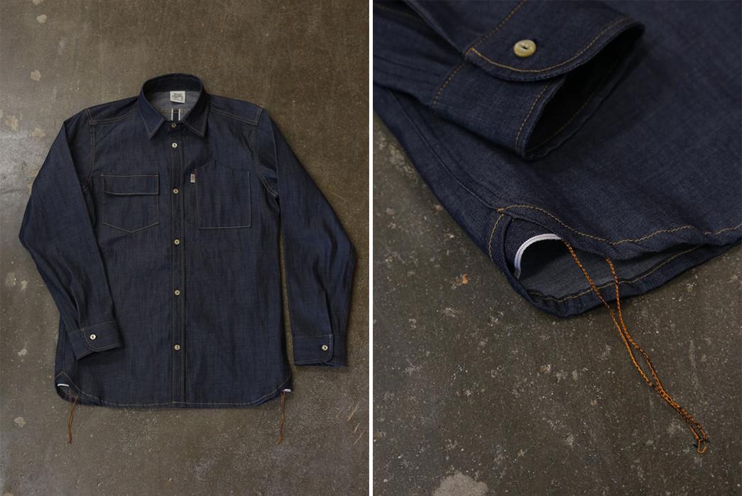 Railcar Fine Goods Felon Long Sleeve Denim Shirt