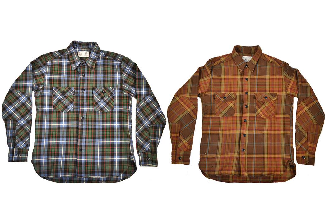 Left Field NYC Tartan Work Shirts