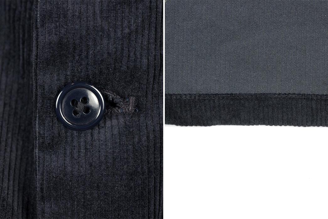 Niche Navy Blue Corduroy Seattle Shirt Jacket