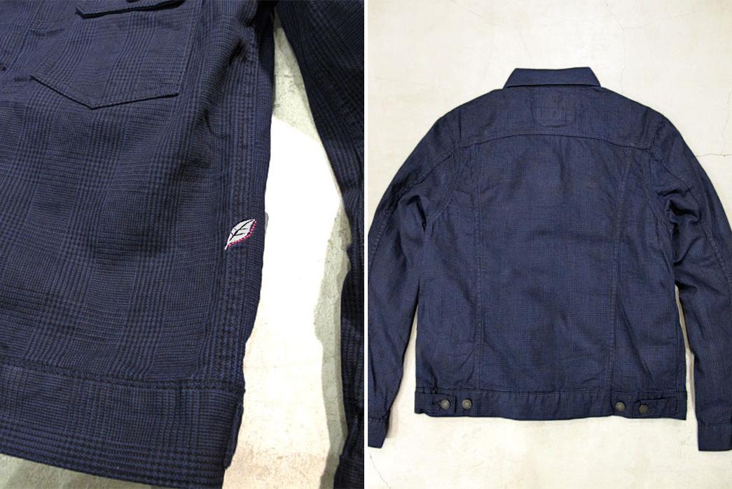 Pure Blue Japan Glen Check Type II Jacket