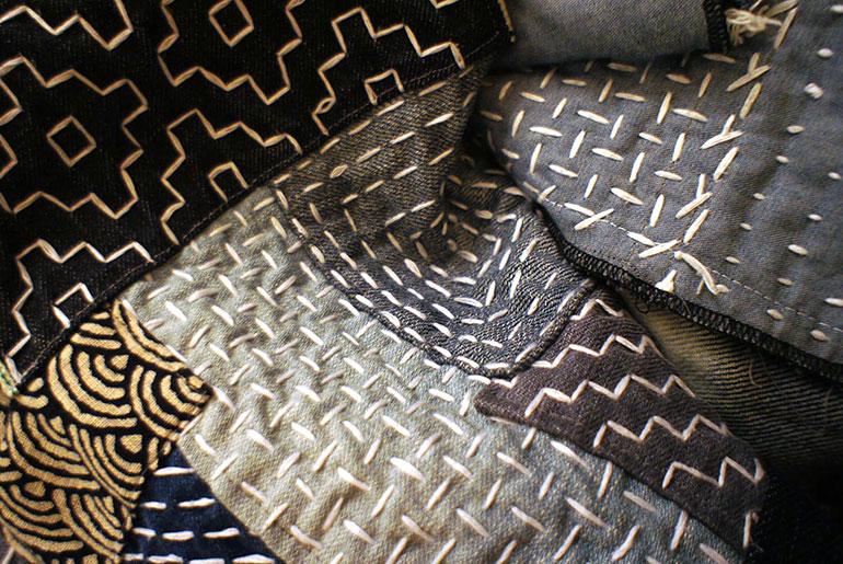 Boro Vest Close Up