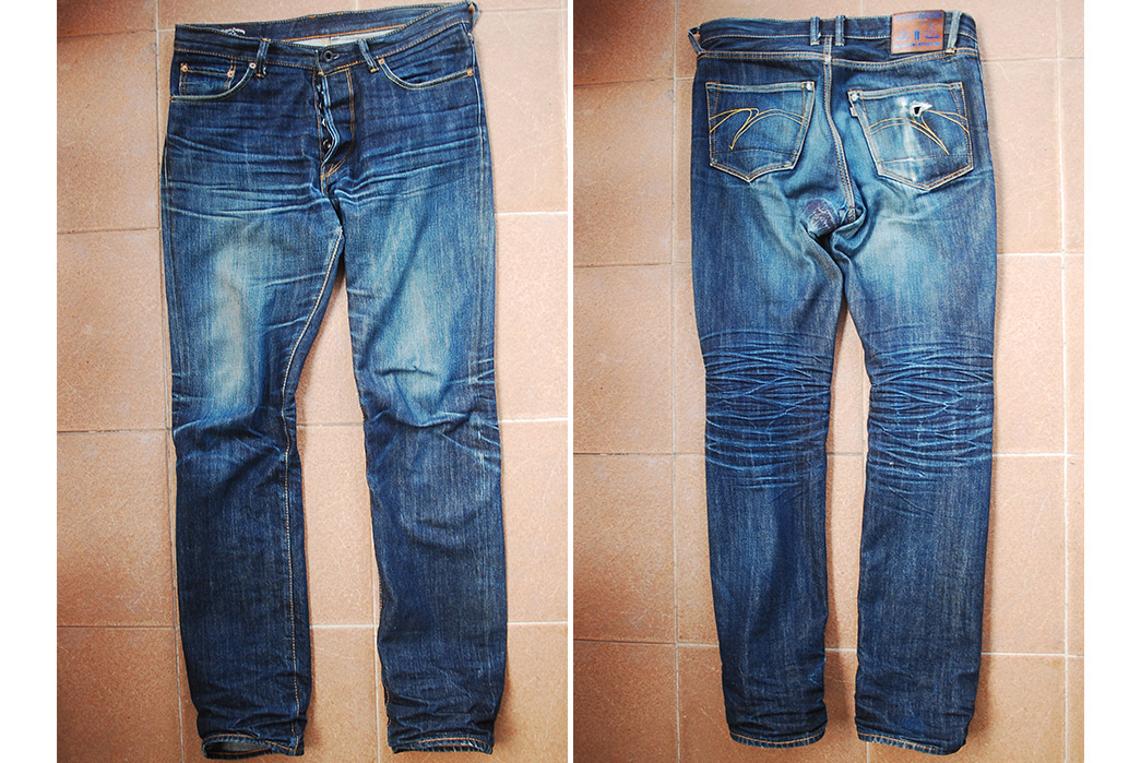 Fade of the Day – Mommo Company Lot #501 Slim Mod (1 year, 3 months, 3 washes)
