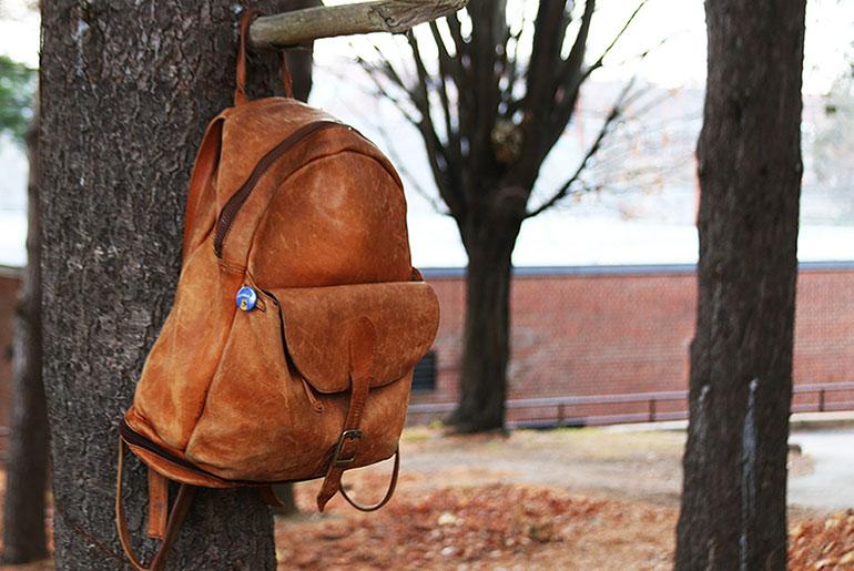 Vintage Leather Backpack Full Shot
