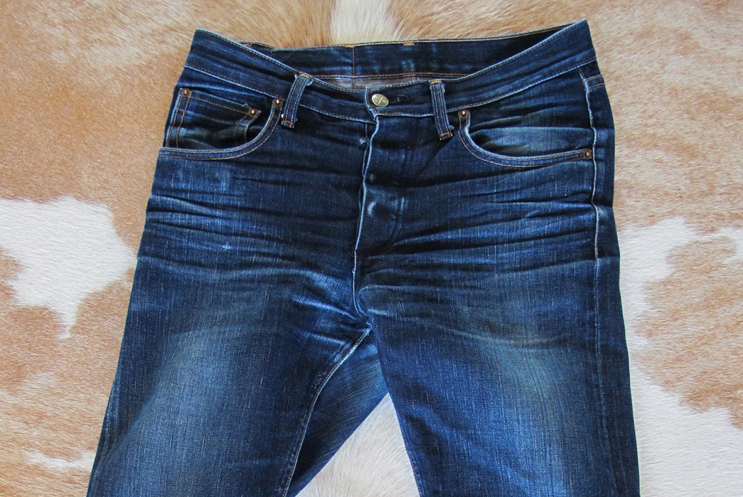 Fade of the Day – Left Field NYC Greaser Cone Mills 13 oz. (2 Years, 7 Months, 3 Washes)