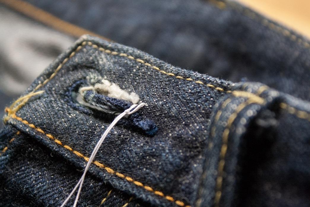 denim jean buttonhole repair