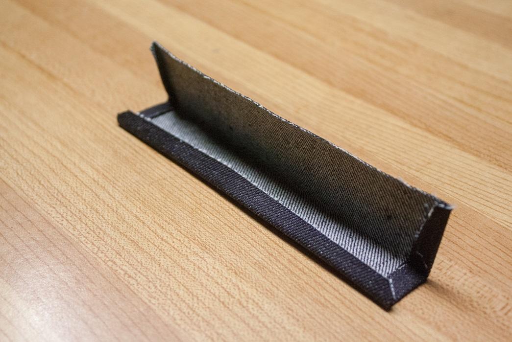 folded denim patch scrap