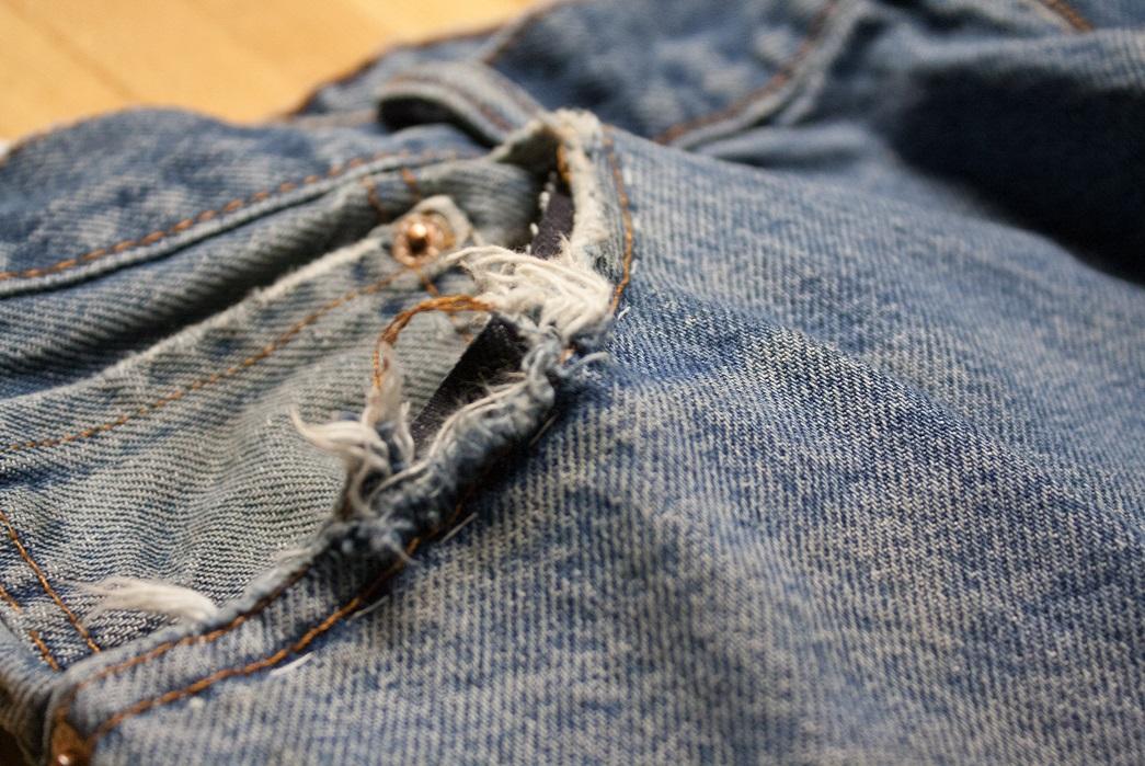 Denim jean pocket repair