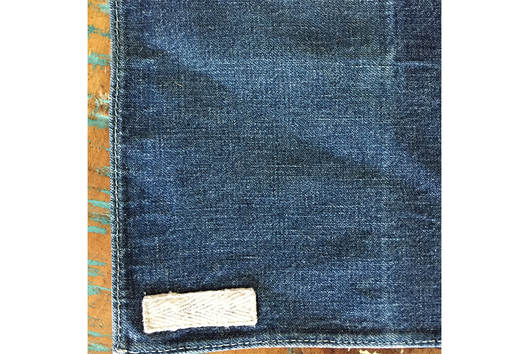 Fade of the Day – The Hill-Side Selvedge Denim Pocket Square (6 Years, 5 Months, Unknown Washes)