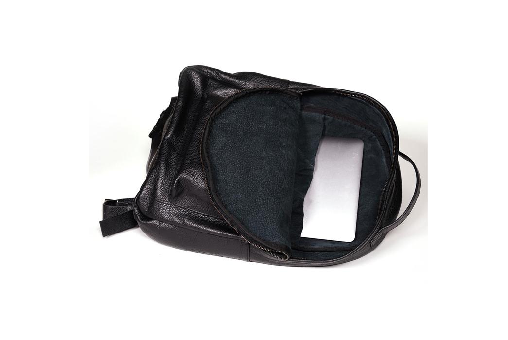 Epaulet Leather Bergen Backpack Interior