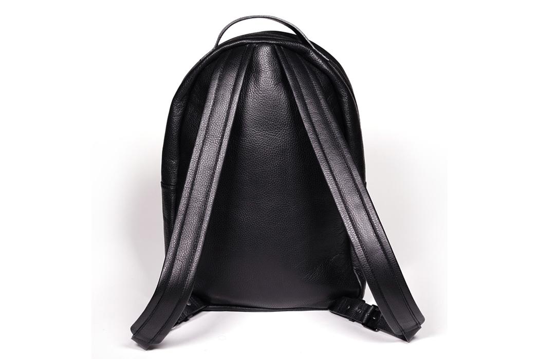 Epaulet Leather Bergen Backpack Rear