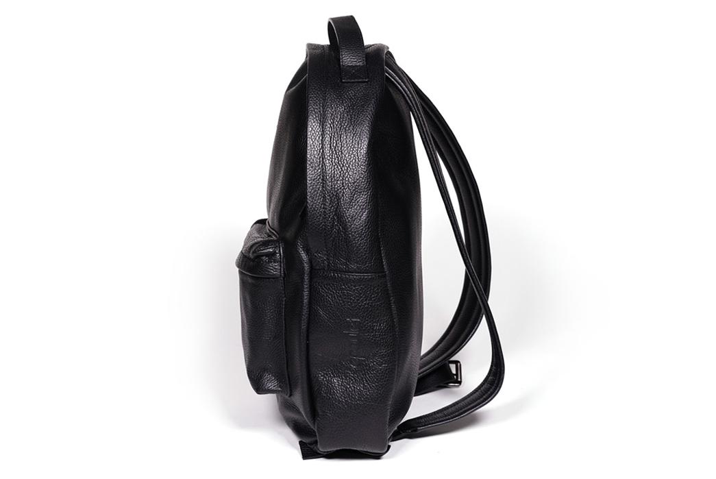 Epaulet Leather Bergen Backpack - Side