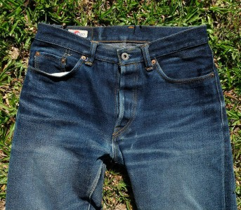 Fade of the Day - Hanzo CI-105-A (18 Months 6 Washes, 2 Soaks) - Front Top
