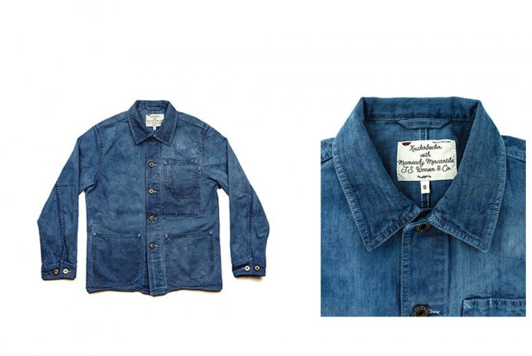 Knickerbocker Mfg x Manready Mercantile Indigo Chore Coat Front Fold</a>
