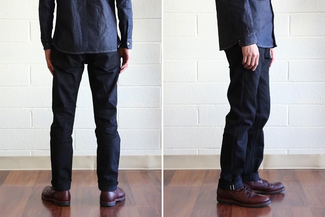 Railcar Fine Goods Spikes Fit X026 Black Jeans