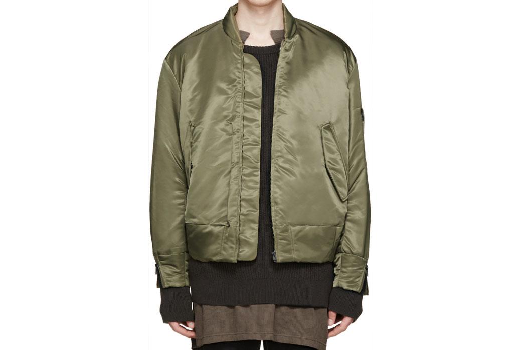 Fig. 4 - MA-1 jacket by Yeezy Season One. Image via Ssense.