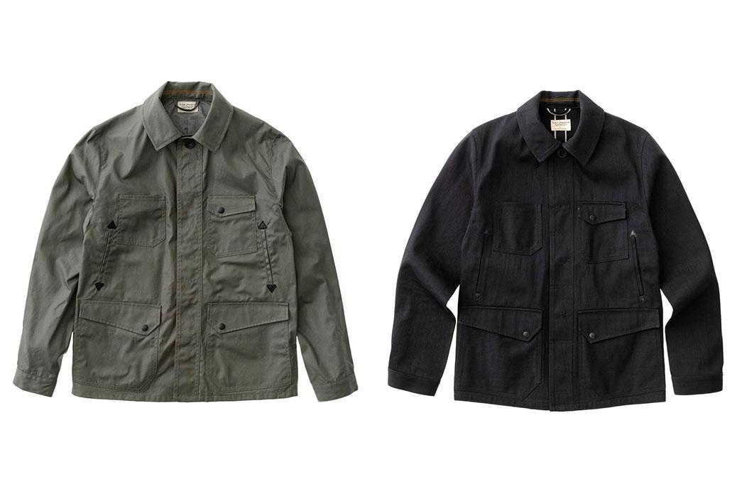 Nudie-Jeans-Ethan-Waxed-Olive,-Selvedge-Denim-Jacket