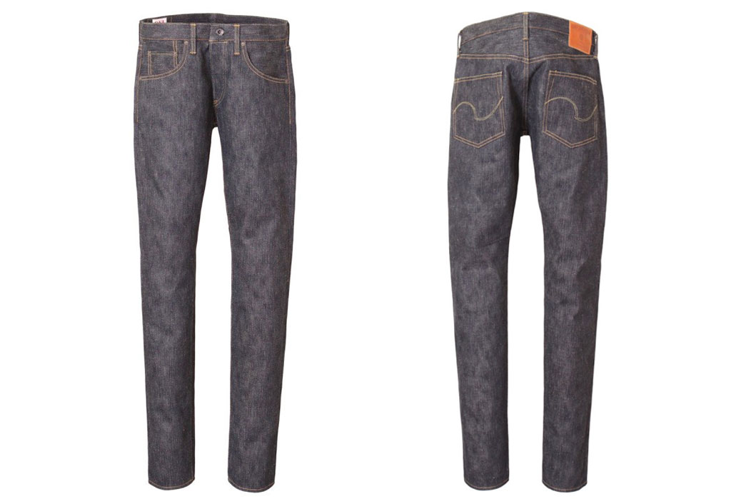 Oni-Denim-622GC-KHN-16oz-Green-Cast-Kihannen-Relax-Tapered-Front-and-Back