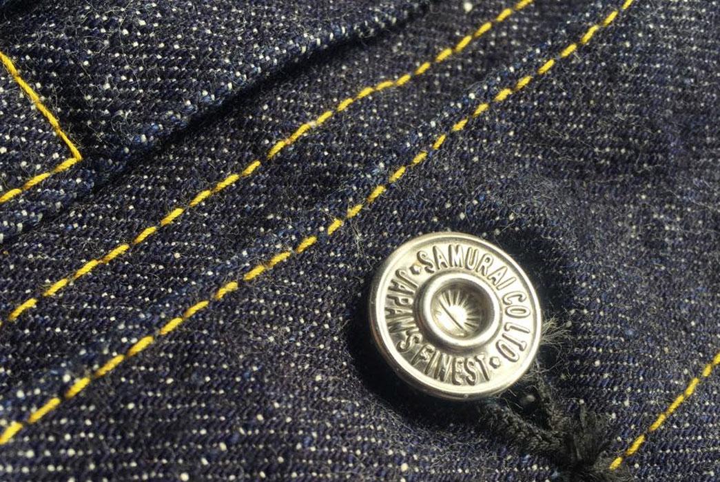 Samurai-Jeans-15oz-S0552XX-Denim-Jacket-Front-Button