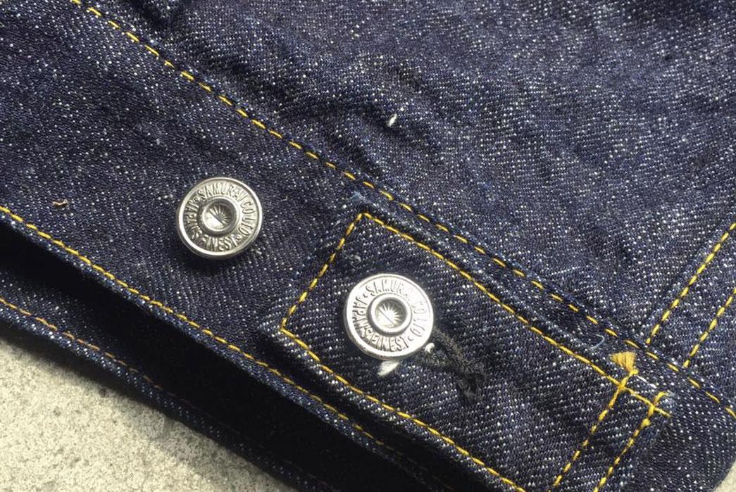 Samurai-Jeans-15oz-S0552XX-Denim-Jacket-Selvedge-Bottom-Buttons