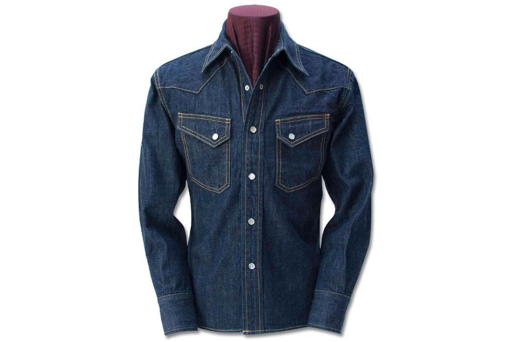 The-Flat-Head-7001W-Denim-Western-Shirt