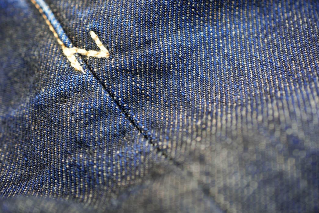 Noble Denim x Bulleit Bourbon Barrel Aged Jeans fabric