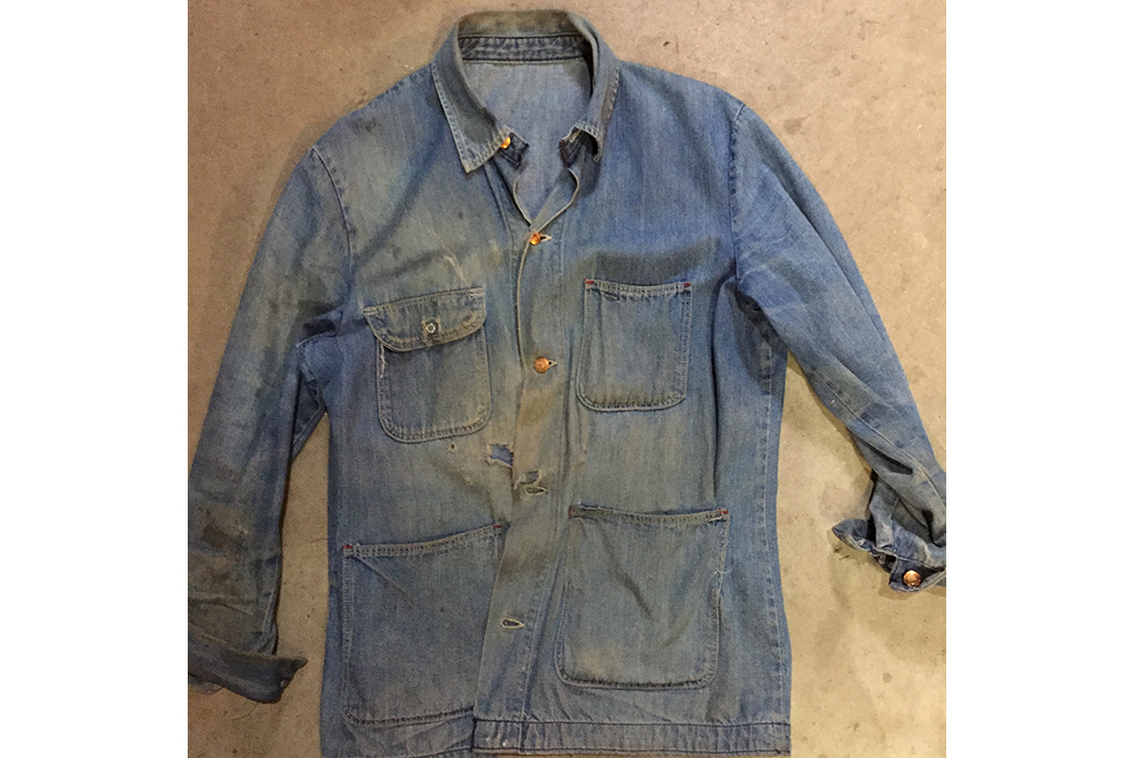 Fade Friday - Unknown Vintage Chore Jacket (60+ Years, Unknown Washes)