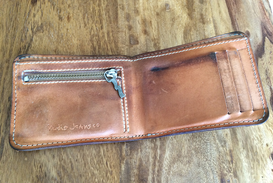 Fade of the Day - Nudie Jeans Co. Andreasson Leather Wallet (2 Years)