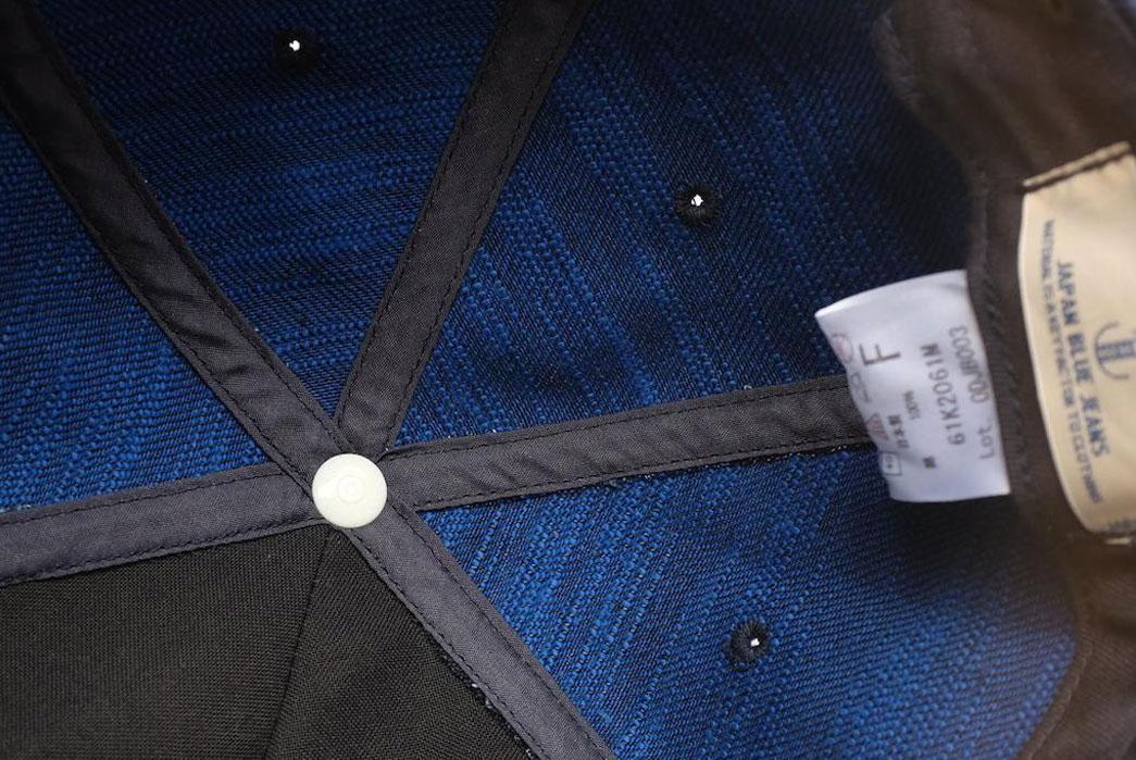 Japan-Blue-x-Okayama-Denim-'Sapphire-Slub'-18oz.-Selvedge-hat-interior