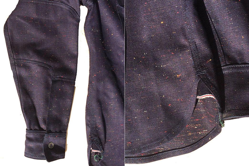 Left-Field-12oz.-Nep-indigo-Denim-Work-Shirt-details