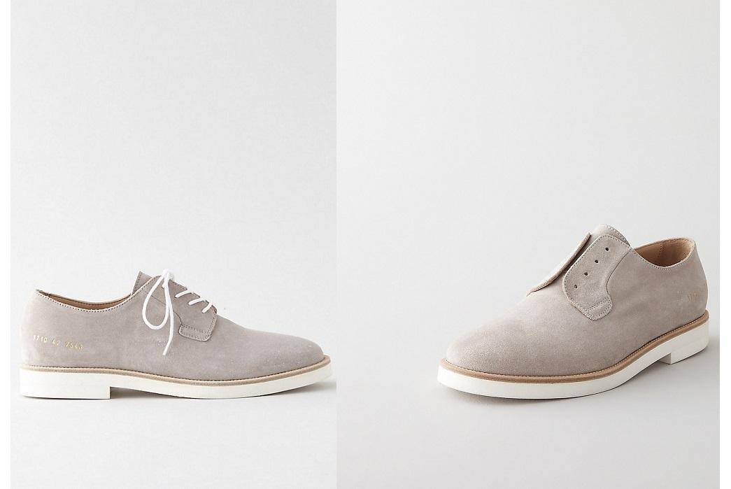 common-projects-suede-slip-on-suede-plain-toe-blucher-shoe
