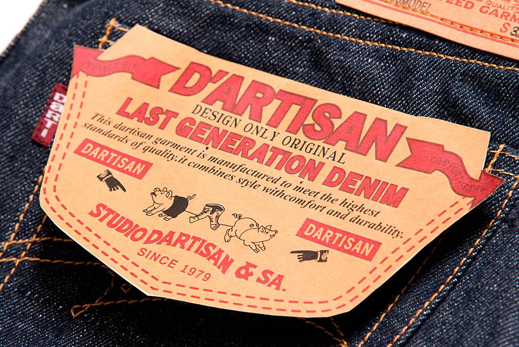 Studio-D'artisan-D1706-'66'-Vintage-Inspired-Jean-Back-Pocket-Flasher